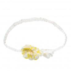 Headband Fleur Feuilles Jaune
