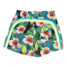 Short de Bain Tropical Bird Bleu