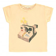 T-shirt Polaroid Rose pêche