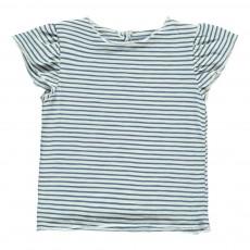 T-Shirt Rayé Papillon Bleu