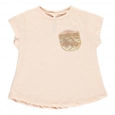 T-Shirt Poche Contrastée Anaé Rose pâle