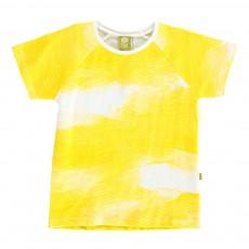 T-Shirt Tie & Dye Unicorn Jaune