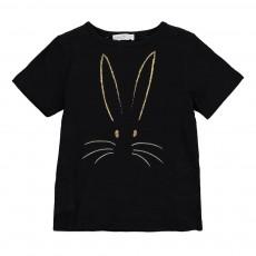 T-shirt Lapin Bunny Noir