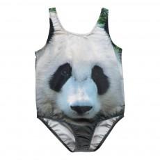 Maillot de Bain 1 Pièce Anti UV Panda Gris