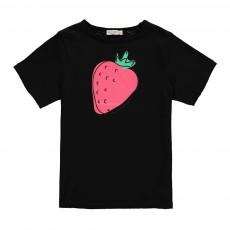 T-shirt Fraise Lucas Noir