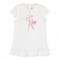 T-Shirt Oiseaux Sequins Blanc