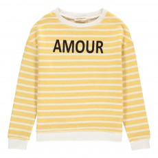 "Sweat Rayé ""Amour"" Madison Jaune"