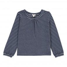 T-Shirt Rayures Lurex Sunny Bleu indigo