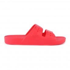 Sandales Imitation Boucle Rouge