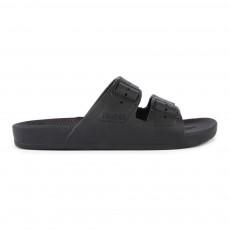 Sandales Imitation Boucle Noir