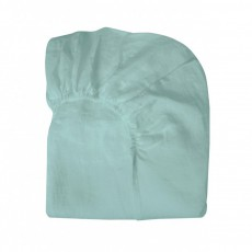 Drap-housse Lin Vert d'eau