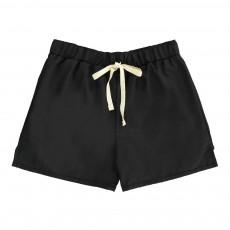 Short De Bain Lien Taille Noir