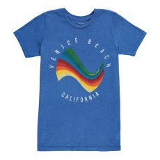 T-Shirt Surf Vague Bleu roi