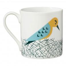 Mug en céramique oiseau Multicolore