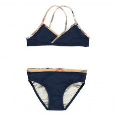 Bikini Détails Tartan Crosby Bleu marine