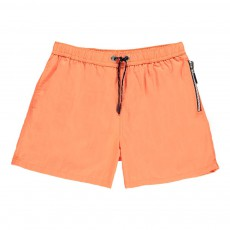 Short de Bain Happy Orange fluo