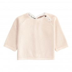 Pull Boutons Dos Rose