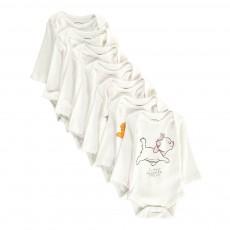 Semainier de Bodies Weekcats Blanc