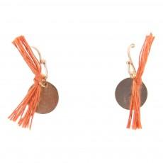 Boucles d'Oreilles Pompon Arizona Doré