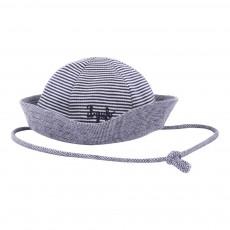 Chapeau Rayé Lien Bleu