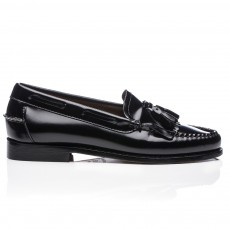Mocassins Glands Cuir Kiltie Noir