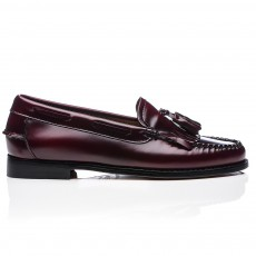 Mocassins Glands Cuir Kiltie Bordeaux