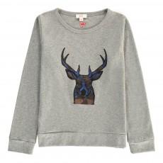 T-Shirt Cerf Cervo Gris chiné