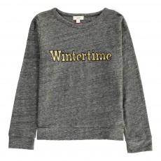 """T-Shirt """"Wintertime"""" Brodé Gris chiné foncé"""