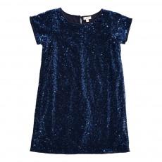 Robe Paillettes Disco Bleu