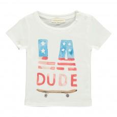 T-shirt LA Dude Bébé Ecru