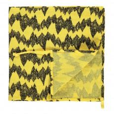 Lange montagne 60x60 cm en gaze de coton éco labellisé avec attache Jaune