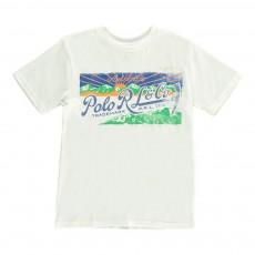 T-Shirt Montagnes Ecru