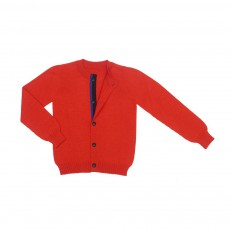 Cardigan Coton Cachemire Aqua Rouge
