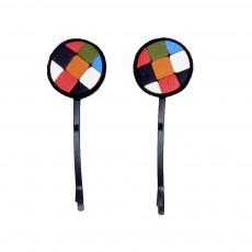 Lot de 2 Barrettes Kaleidoscope Multicolore
