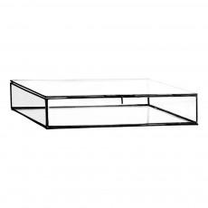 Boîte de rangement en verre 30,5x30,5 cm Noir