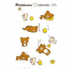 Planche de 8 tatouages éphémères Rila Friends Rilakkuma x Nailmatic Multicolore
