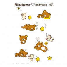 Planche de 8 tatouages éphémères Rila Friends Rilakkuma x Nailmatic
