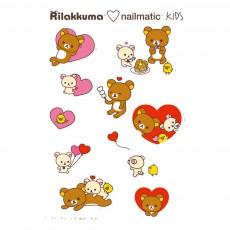 Planche de 8 tatouages éphémères Rila Love Rilakkuma x Nailmatic Multicolore