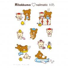Planche de 8 tatouages éphémères Rila World Rilakkuma x Nailmatic Multicolore