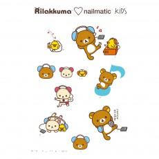 Planche de 8 tatouages éphémères Rila Music Rilakkuma x Nailmatic Multicolore