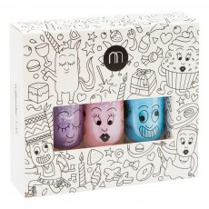 Pack 3 vernis Party Piglou, Polly et Gaston Multicolore