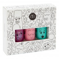 Pack 3 vernis Jungle Sheepy, Cookie et Rio Multicolore