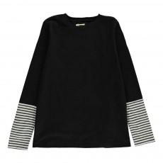 T-Shirt Manches Rayées Fregata Noir