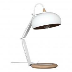Lampe à poser Rhoda - Chêne et métal Blanc