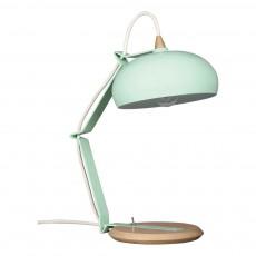Lampe à poser Rhoda - Chêne et métal Vert amande