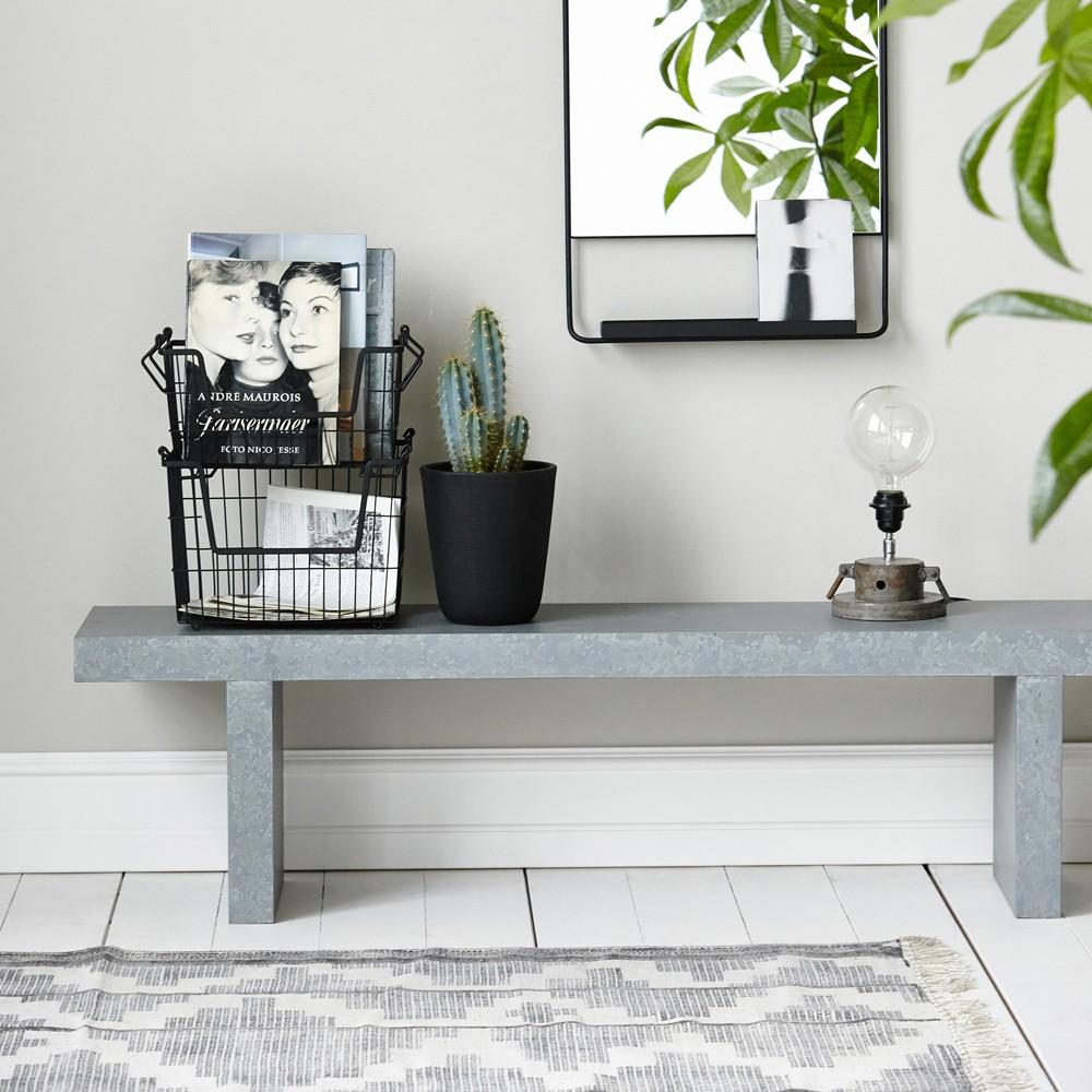 tapis eve noir house doctor d coration smallable. Black Bedroom Furniture Sets. Home Design Ideas