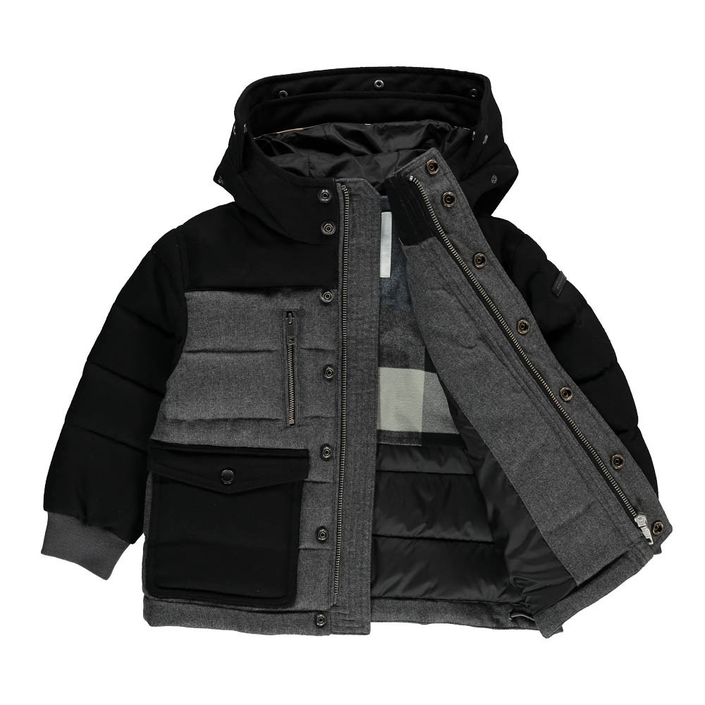 manteau bi mati res mini leyton gris burberry mode ado gar on smallable. Black Bedroom Furniture Sets. Home Design Ideas