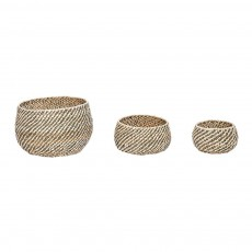 Paniers ronds - Set de 3 Naturel
