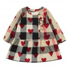 Robe Carreaux Cœurs Mini Alaya Beige