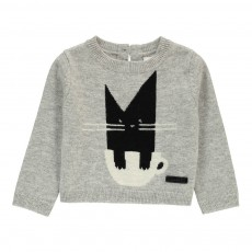 Pull Cat Gris chiné